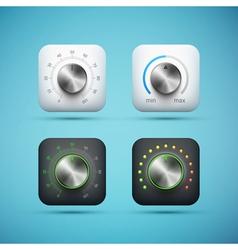 Knob icons set vector