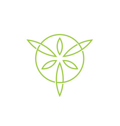 Leaf leaves circle circular logo icon vector