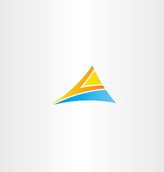 letter a orange blue logo triangle vector image