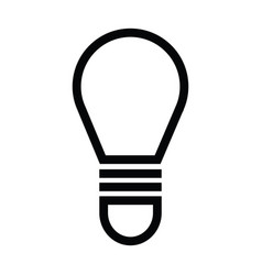 light bulb icon with outline style vector image