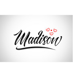 Madison city design typography with red heart vector