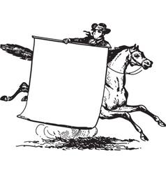 Man Riding Horse vector