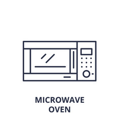 microwave oven line icon concept microwave oven vector image