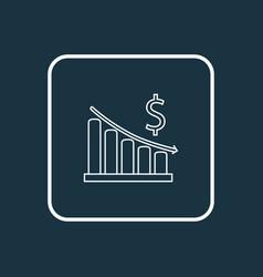 money decrease icon line symbol premium quality vector image