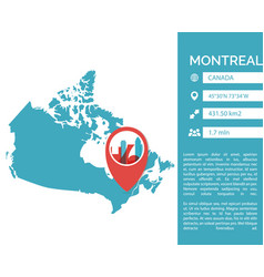 montreal map infographic vector image