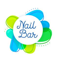 nail bar logo concept creative studio design vector image