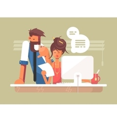 Office work day vector image