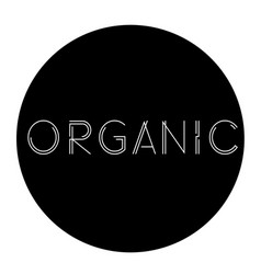organic label stamp vector image