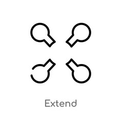 Outline extend icon isolated black simple line vector
