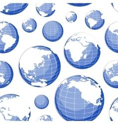 pattern nine globes vector image