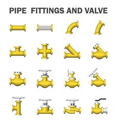 Pipe valve icon vector image