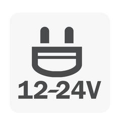 Plug icon black vector