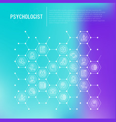 Psychologist concept in honeycombs vector