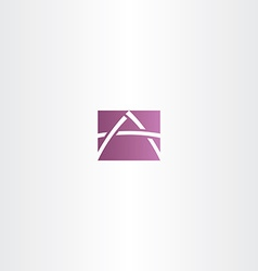 Purple icon letter a logotype logo vector