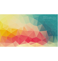 Retro color triangle background with oblique lines vector