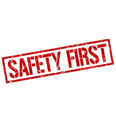 safety first stamp vector image