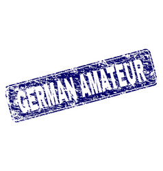 Scratched german amateur framed rounded rectangle vector