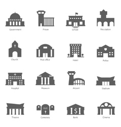 Set government buildings vector