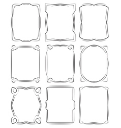Set of frames design elements Editable file vector