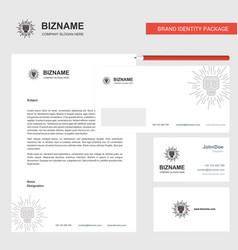 skull business letterhead envelope and visiting vector image