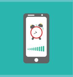 Smart phone alarm clock vector