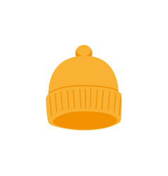 snowboarding cap flat icon isolated vector image