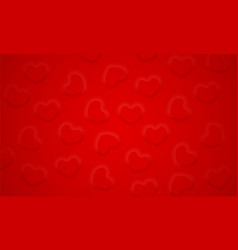 soft convex hearts pattern on red background red vector image