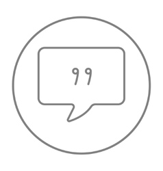 Speech square line icon vector image
