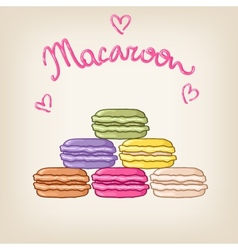 Stack of cute colourful macaroons vector