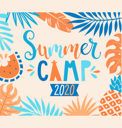 Summer camp 2020 inviting banner vector