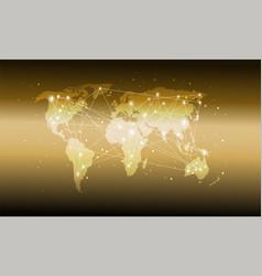 technology world map global media transfer vector image