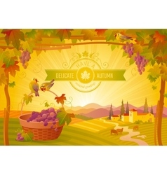 thanksgiving beautiful autumn vector image