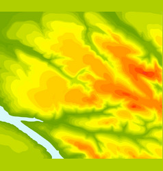 topographic map contour background topo map with vector image