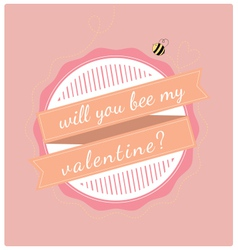 valentines day bee vector image