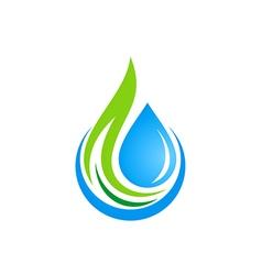 Water drop ecology logo vector