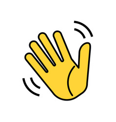 weaving hand icon isolated on white background vector image