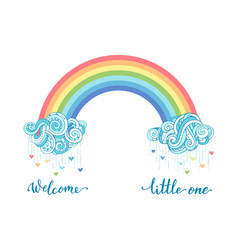 welcome little one vector image