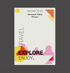 welcome to the monument valley arizona usa vector image
