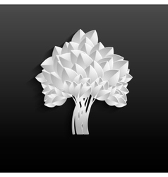 White tree - individual elements for easy changes vector image