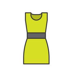 woman short dress filled color outline editable vector image