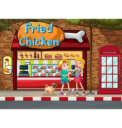 Fried chicken shop vector image