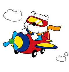 Polar Bear Pilot vector image