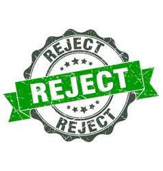reject stamp sign seal vector image