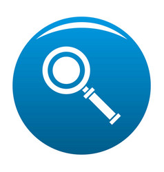 cursor magnifier icon blue vector image