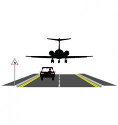 low aircraft vector image