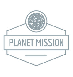 planet concept logo simple gray style vector image