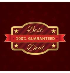 Best deal label vector image