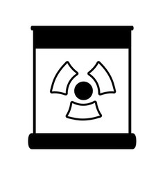 Contour poster with radiation symbol of danger vector