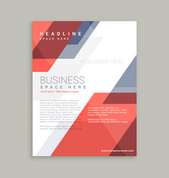 red blue geometric shape business flyer design vector image vector image