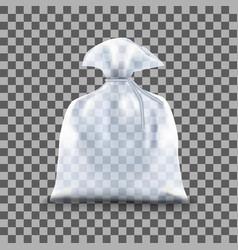 transparent polyethylene package vector image